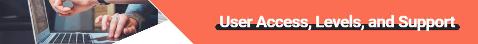 User Access Levels banner